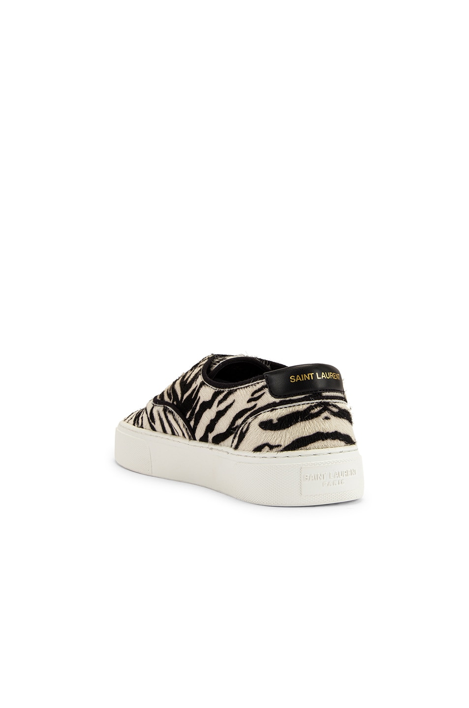 Image 3 of Saint Laurent Zebra Low Top Sneakers in Black & White