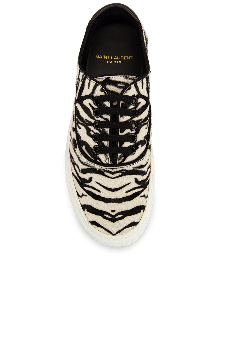 Image 4 of Saint Laurent Zebra Low Top Sneakers in Black & White