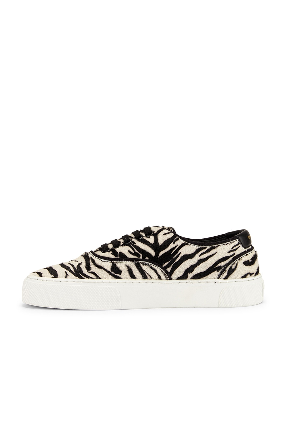 Image 5 of Saint Laurent Zebra Low Top Sneakers in Black & White