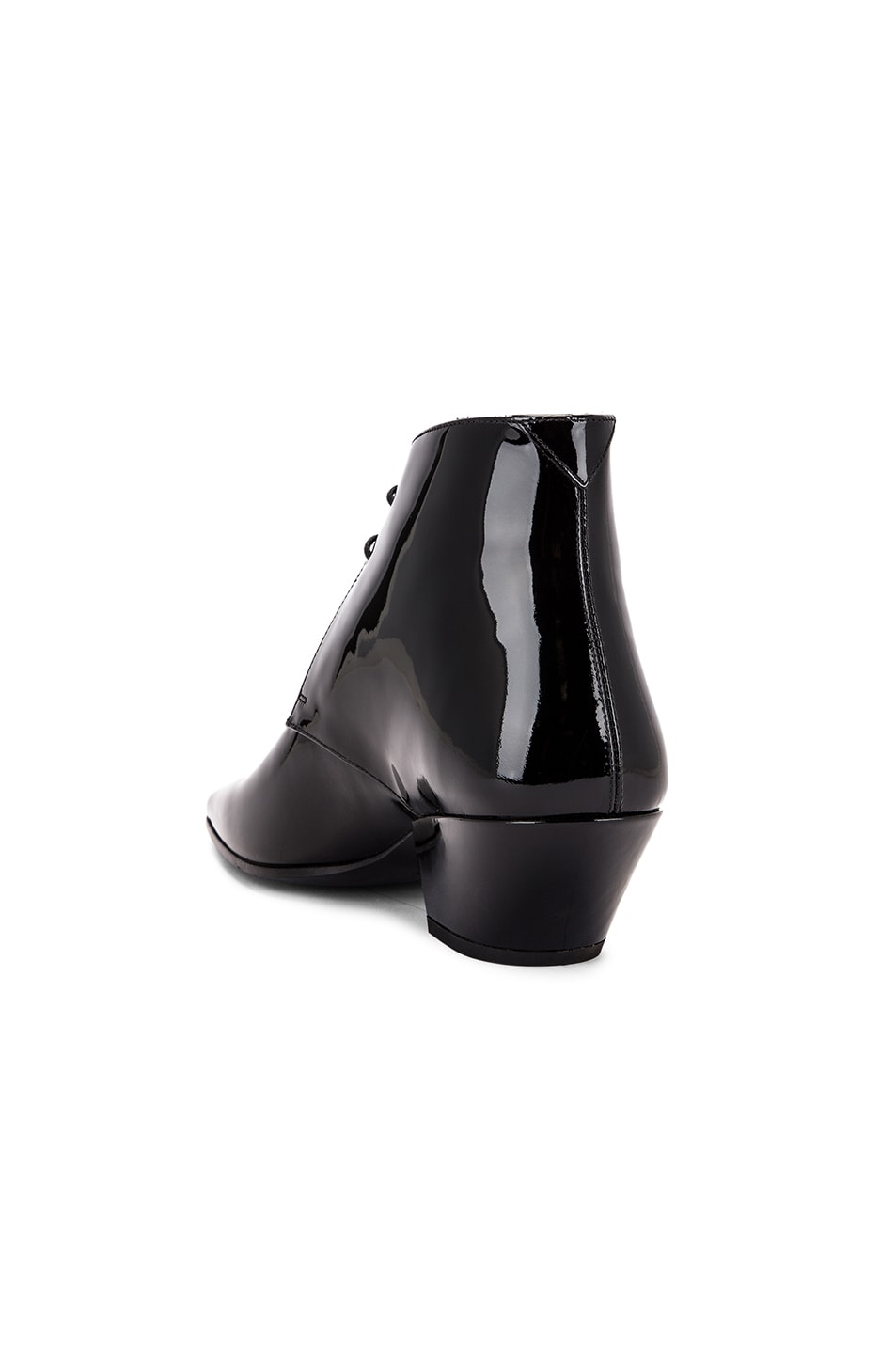 Image 3 of Saint Laurent Belle Lace Up Booties in Black