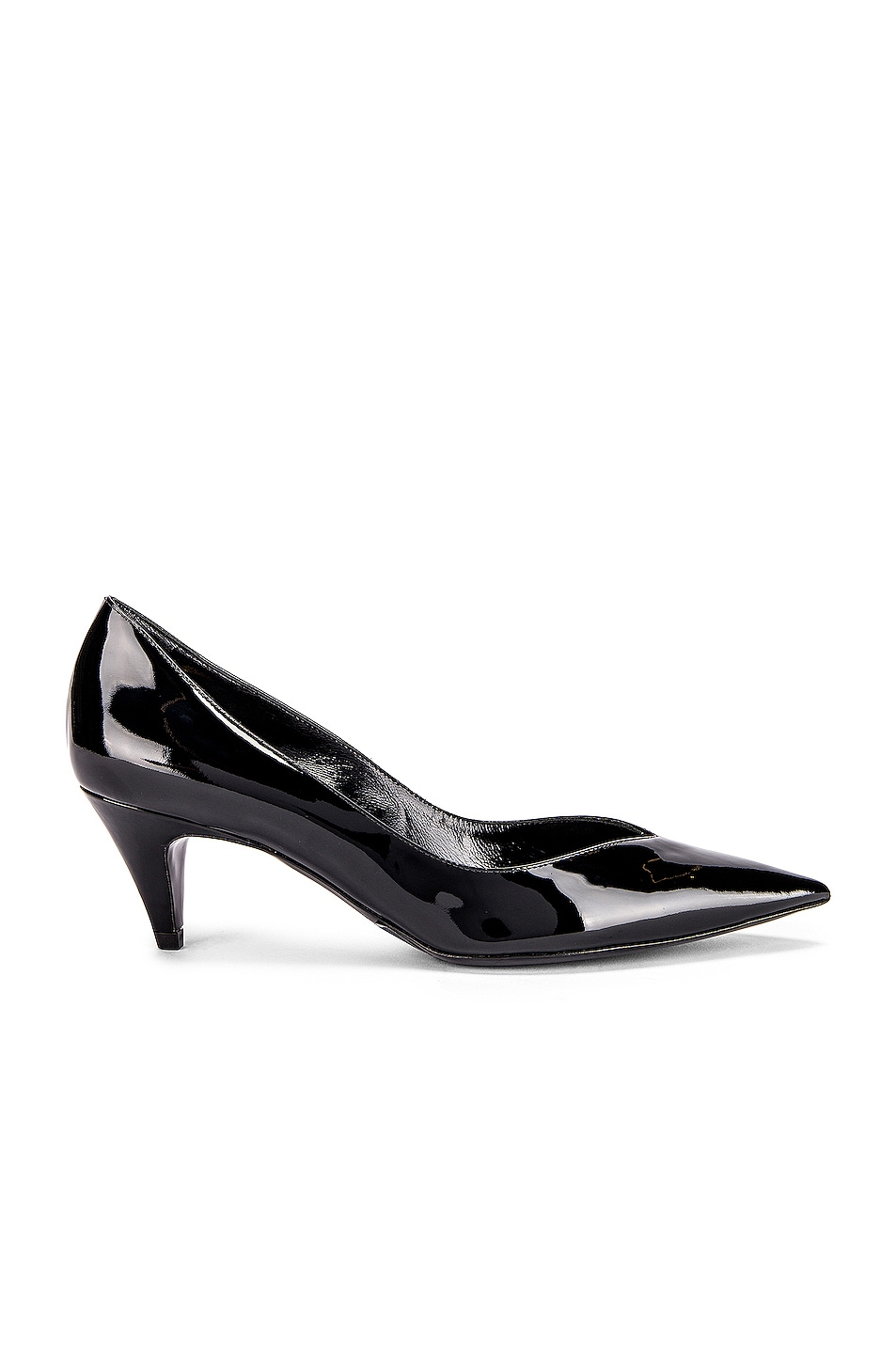 Image 1 of Saint Laurent Kiki Kitten Heels in Black