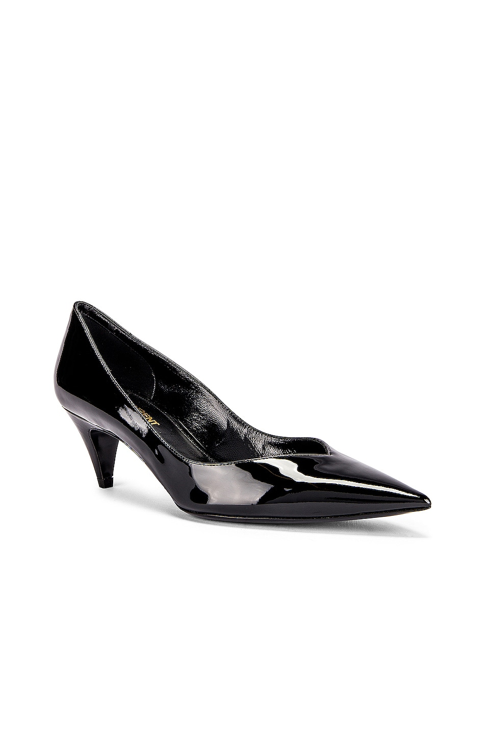 Image 2 of Saint Laurent Kiki Kitten Heels in Black