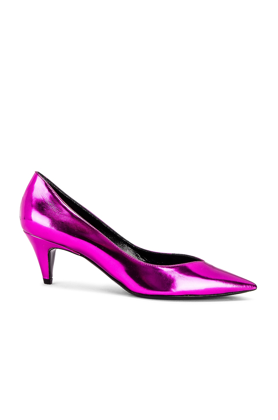 Image 1 of Saint Laurent Kiki Kitten Heels in Fuchsia