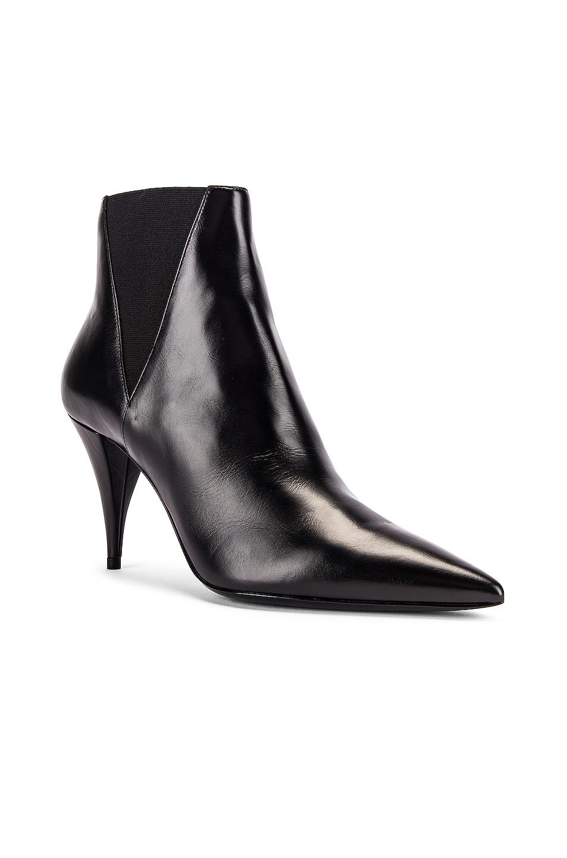 Image 2 of Saint Laurent Kiki Chelsea Booties in Black
