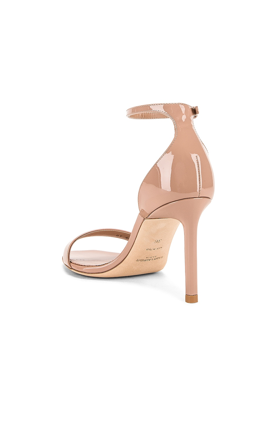 Image 3 of Saint Laurent Amber Ankle Strap Sandals in Nude Rose
