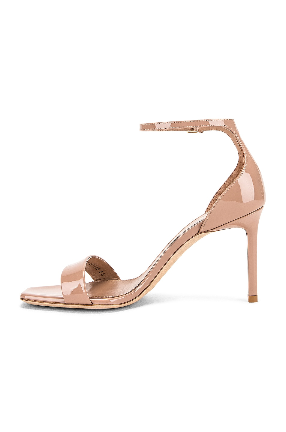Image 5 of Saint Laurent Amber Ankle Strap Sandals in Nude Rose