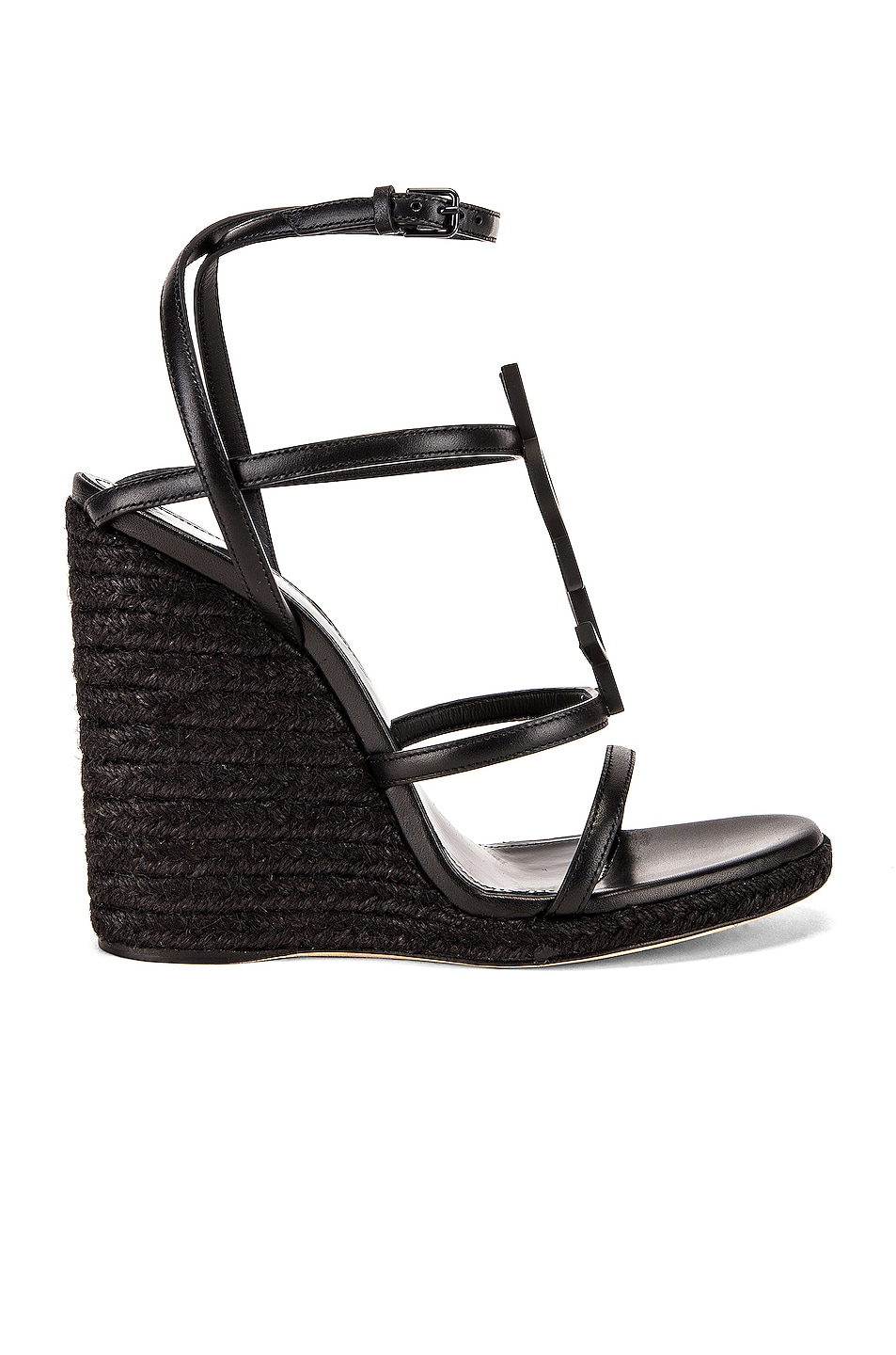 Image 2 of Saint Laurent Cassandra Wedges in Black