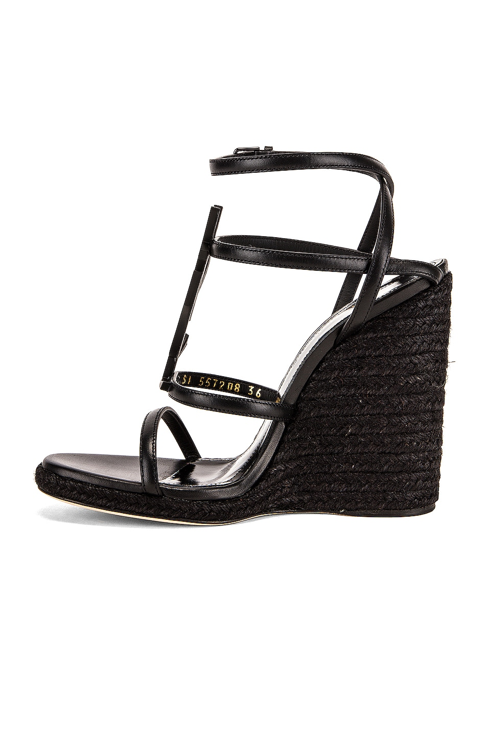 Image 5 of Saint Laurent Cassandra Wedges in Black