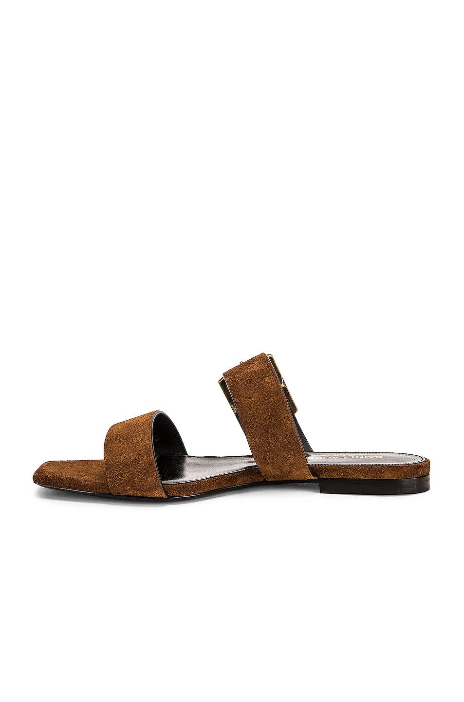 Image 5 of Saint Laurent Suede Oak Sandals in Caramel