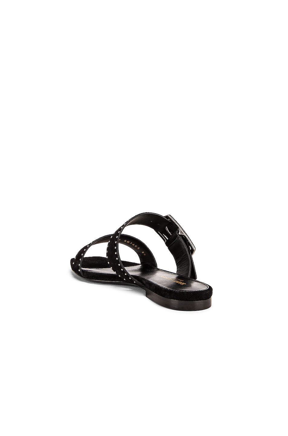 Image 3 of Saint Laurent Oak Buckle Sandals in Black