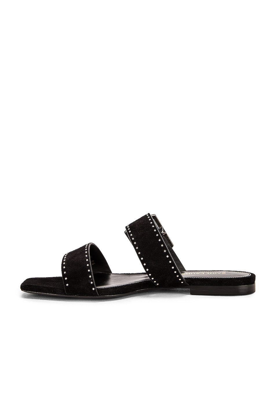 Image 5 of Saint Laurent Oak Buckle Sandals in Black
