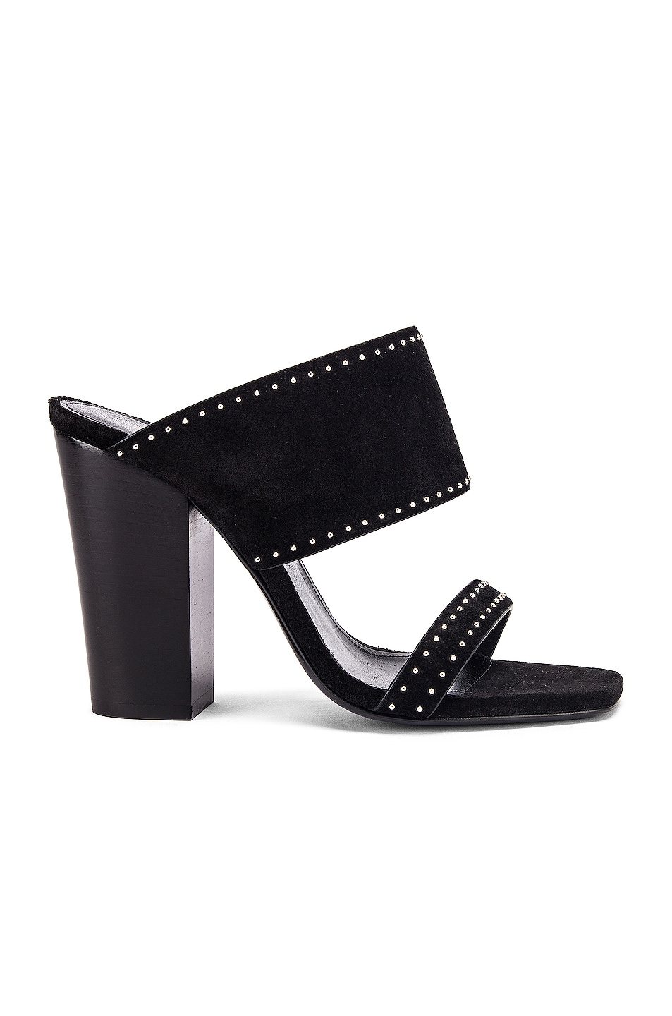 Image 1 of Saint Laurent Oak Stud Sandals in Black