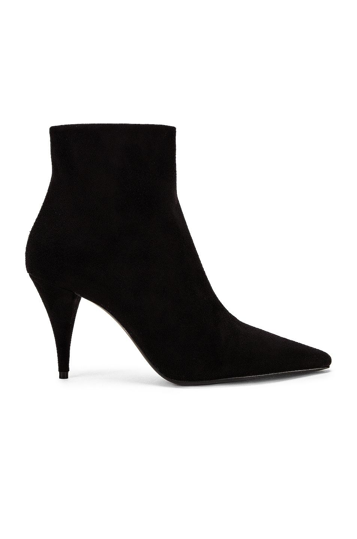 Image 1 of Saint Laurent Kiki Zip Booties in Black