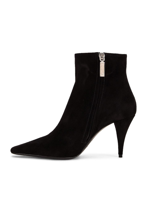 Image 5 of Saint Laurent Kiki Zip Booties in Black
