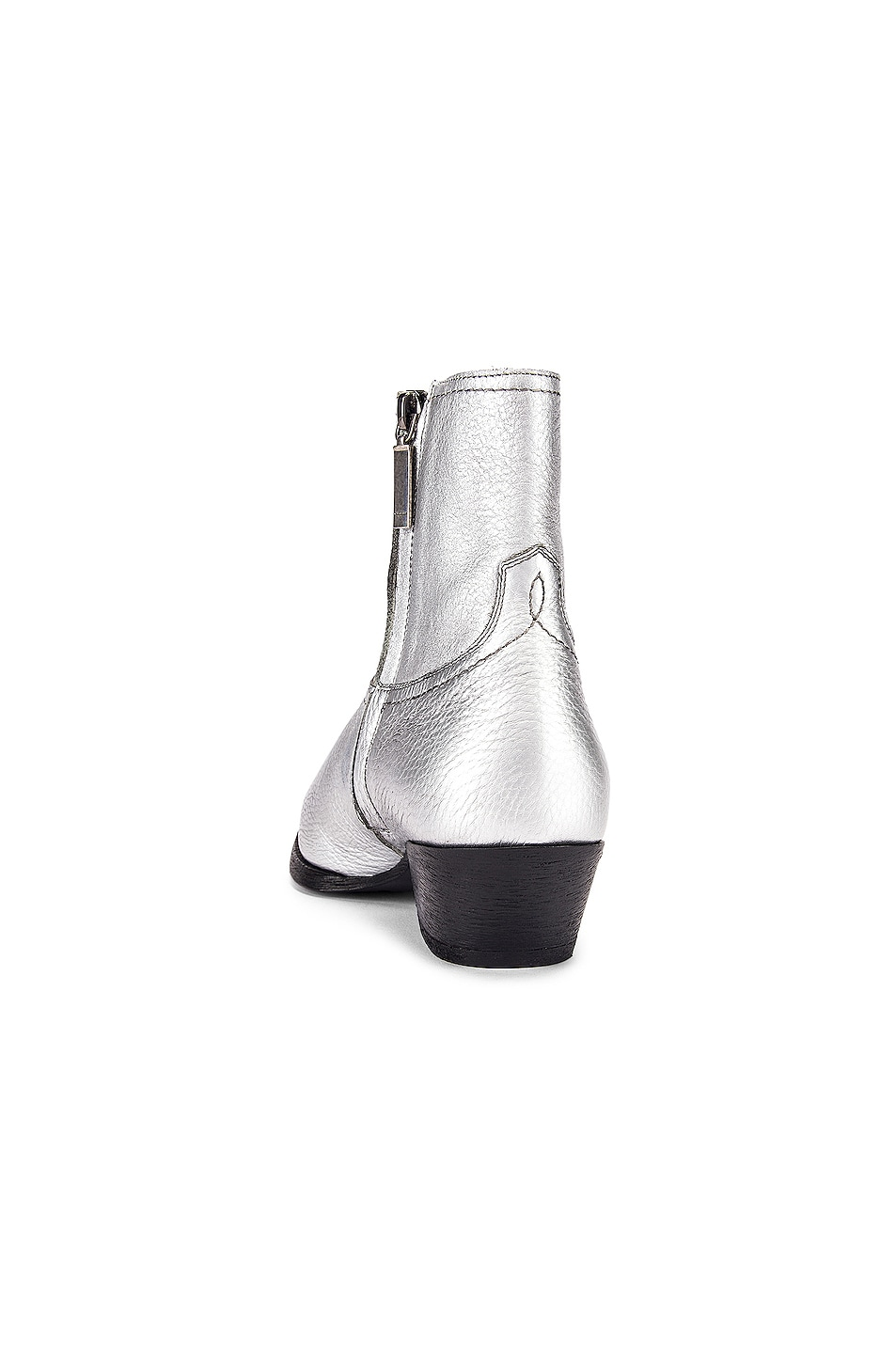 Image 3 of Saint Laurent Lukas Ankle Boots in Silver