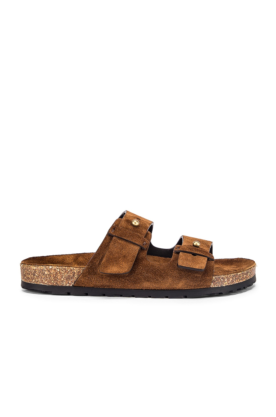 Image 1 of Saint Laurent Jimmy Buckle Sandals in Land