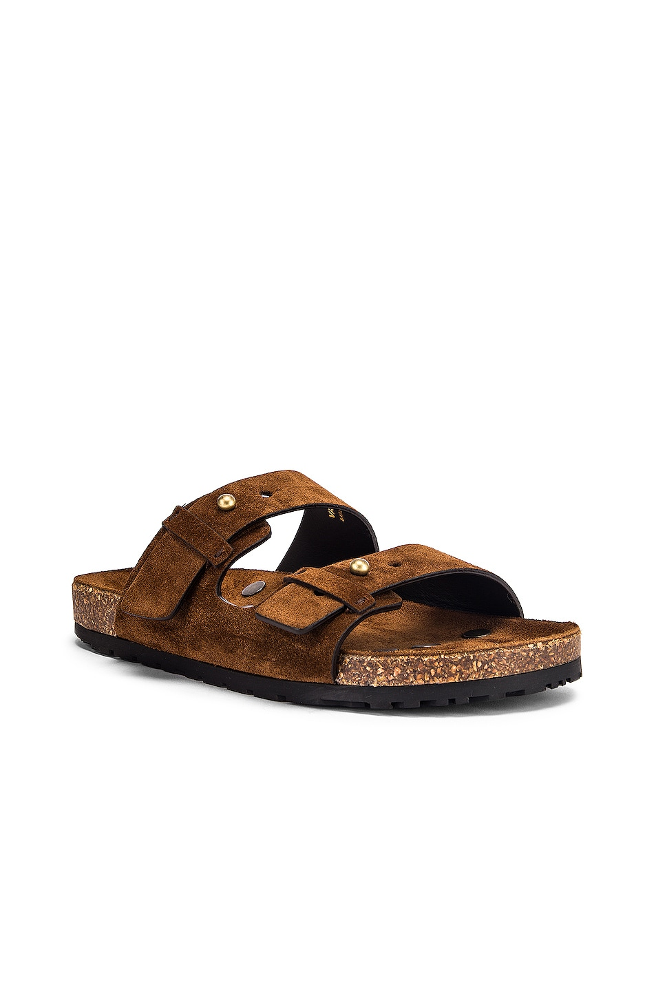 Image 2 of Saint Laurent Jimmy Buckle Sandals in Land