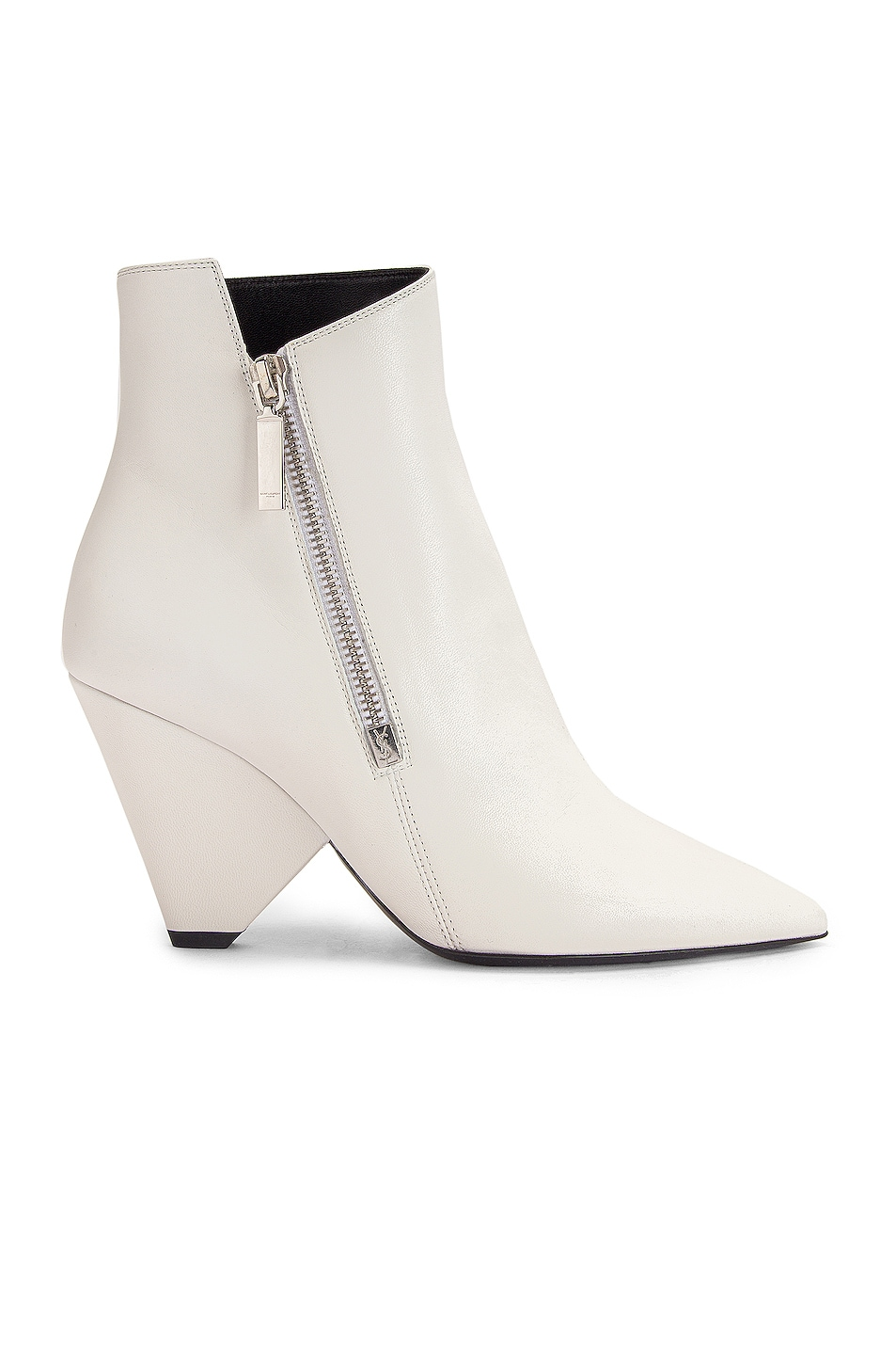 Image 1 of Saint Laurent Niki Zip Booties in White