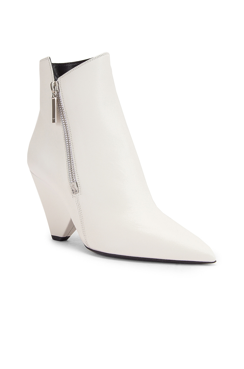 Image 2 of Saint Laurent Niki Zip Booties in White