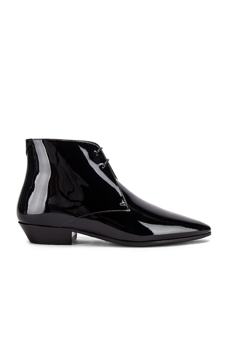 Image 1 of Saint Laurent Jonas Lace Up Patent Booties in Black