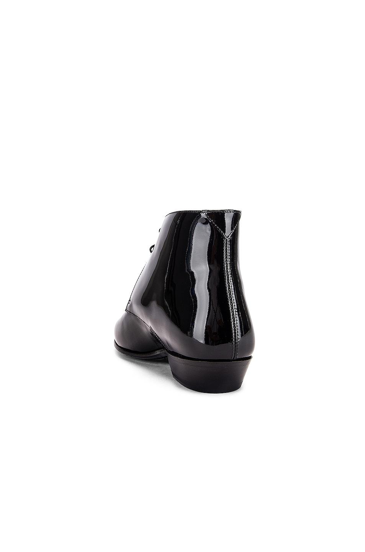 Image 3 of Saint Laurent Jonas Lace Up Patent Booties in Black