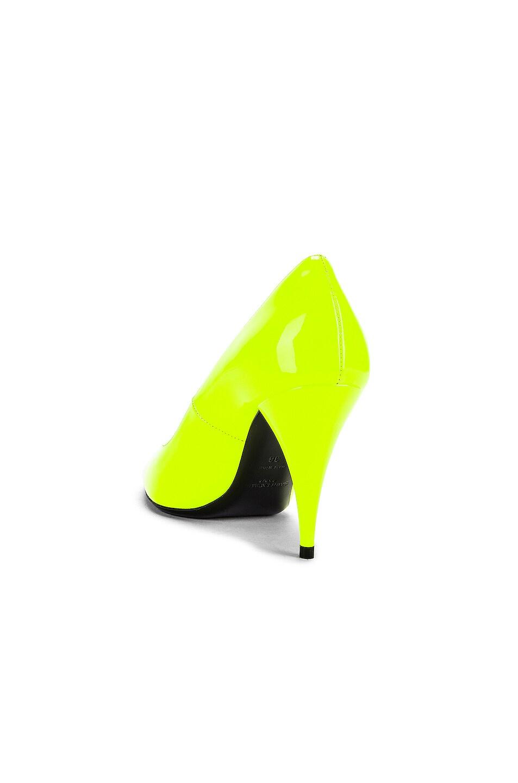 Image 3 of Saint Laurent Kiki Patent Pumps in Fluo Yellow
