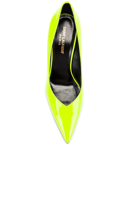 Image 4 of Saint Laurent Kiki Patent Pumps in Fluo Yellow