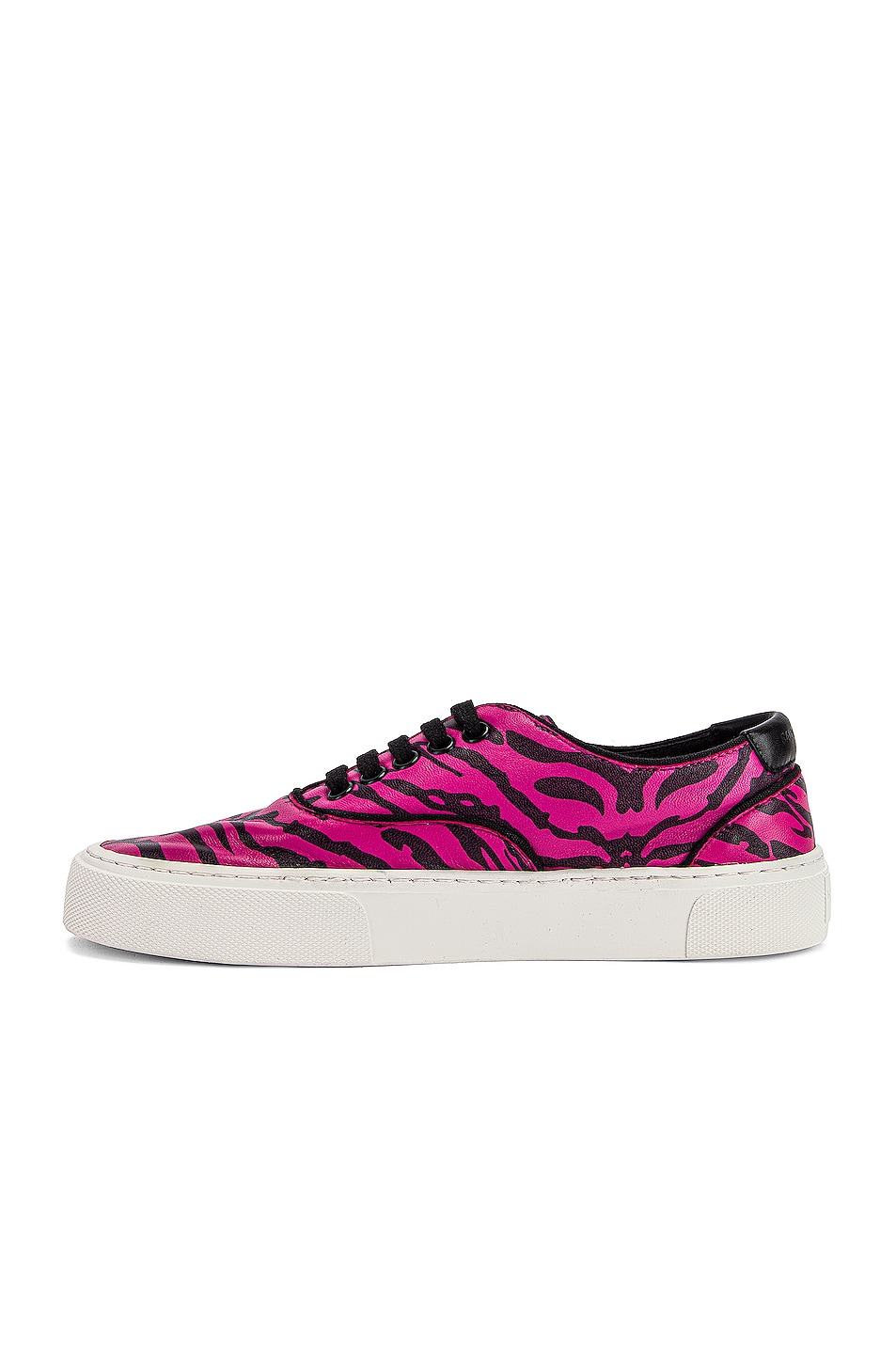 Image 5 of Saint Laurent Low Top Venice Sneakers in Fuchsia & Black