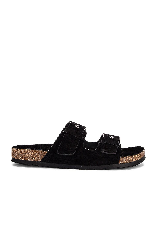 Image 1 of Saint Laurent Jimmy Buckle Sandals in Black
