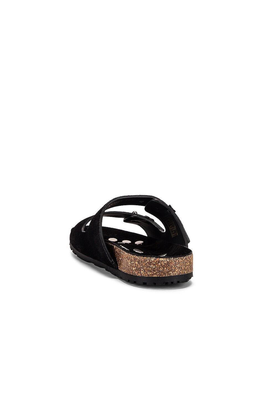 Image 3 of Saint Laurent Jimmy Buckle Sandals in Black