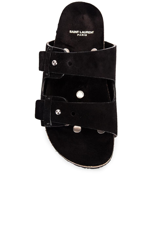 Image 4 of Saint Laurent Jimmy Buckle Sandals in Black