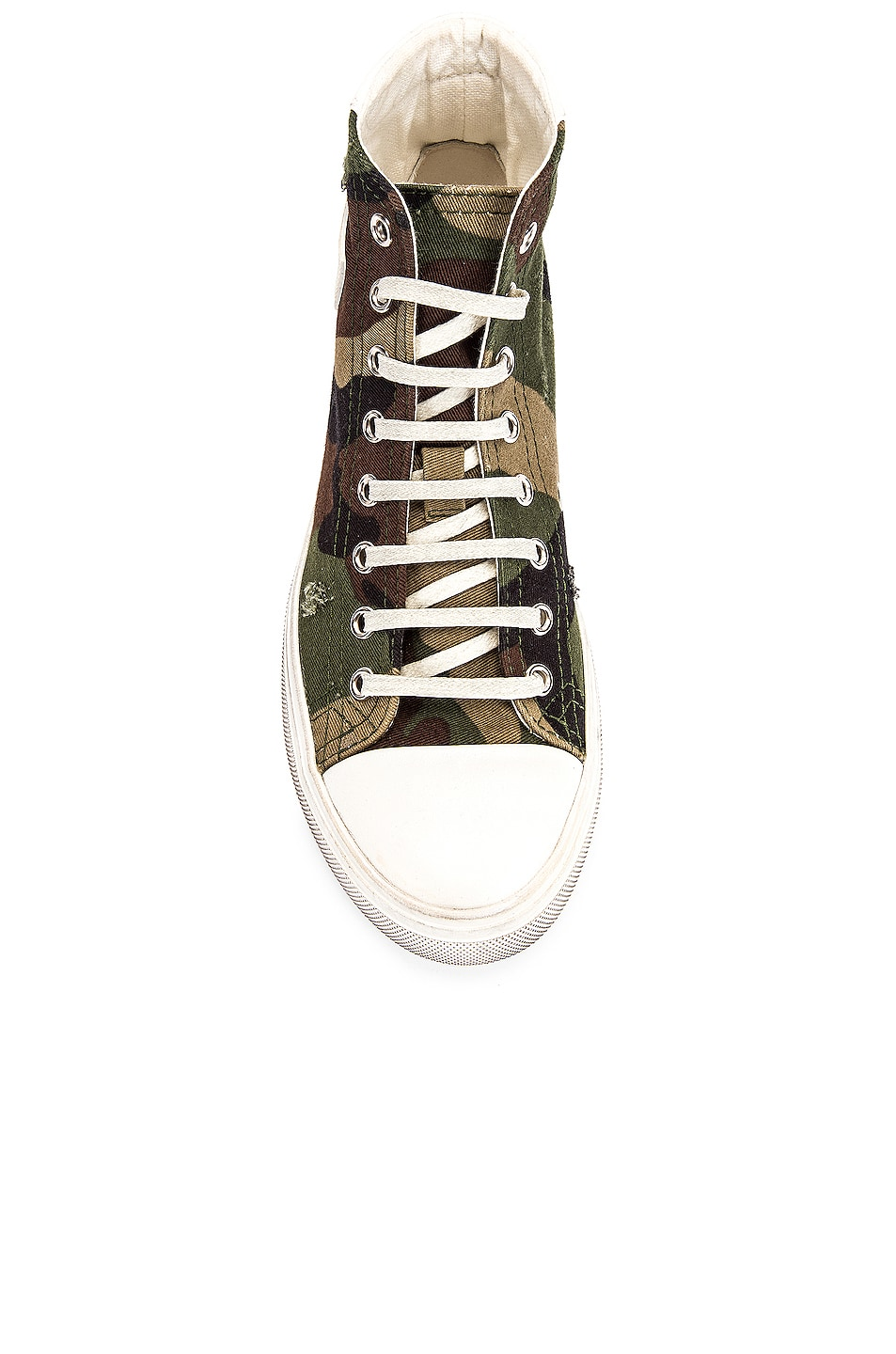 Image 4 of Saint Laurent Bedford Patch Sneakers in Khaki
