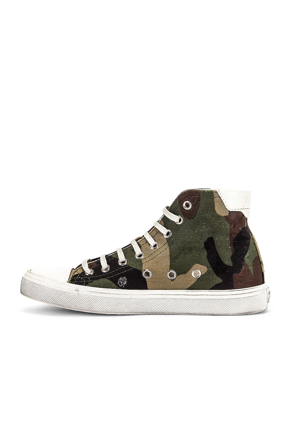 Image 5 of Saint Laurent Bedford Patch Sneakers in Khaki