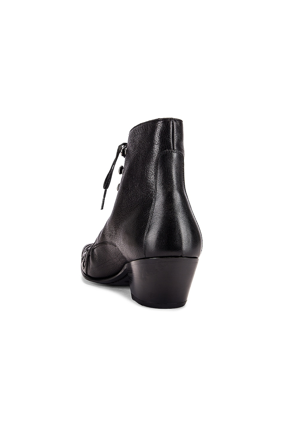 Image 3 of Saint Laurent Rebecca Lace Up Booties in Black