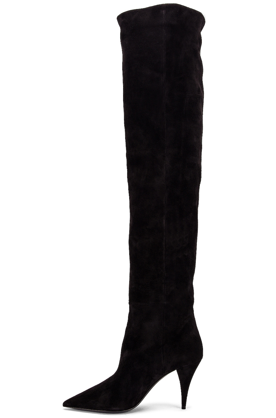 Image 5 of Saint Laurent Kiki Over the Knee Boots in Black