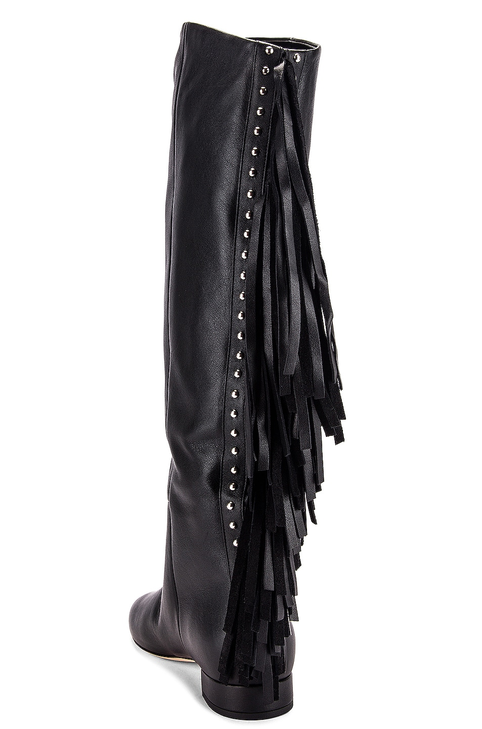 Image 3 of Saint Laurent Nina Tassel Boots in Black