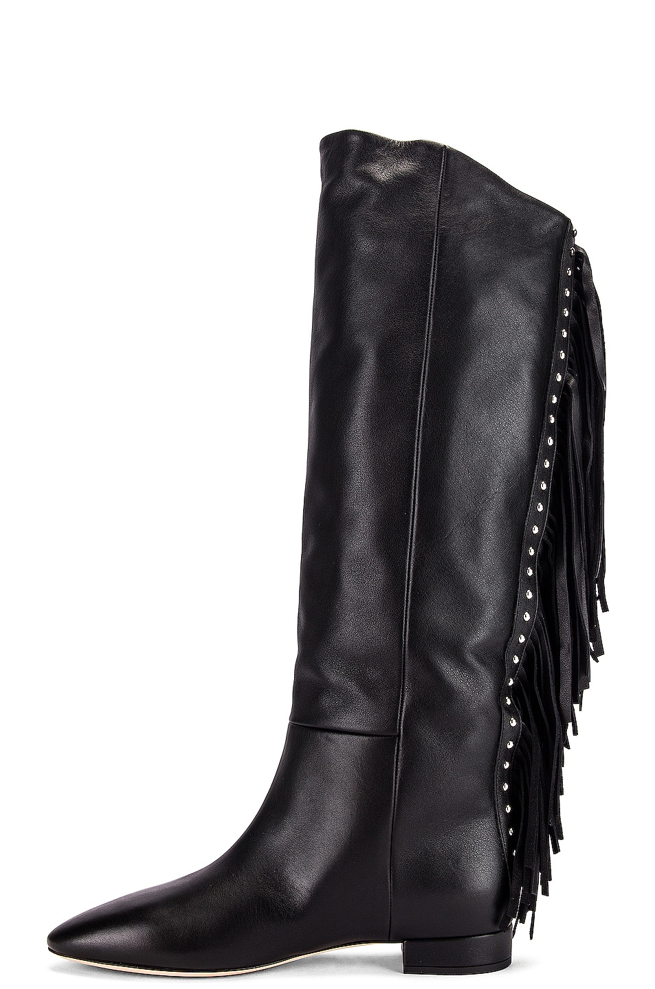 Image 5 of Saint Laurent Nina Tassel Boots in Black