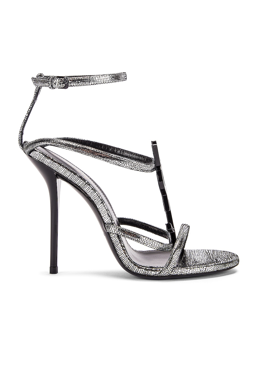 Image 2 of Saint Laurent Cassandra Heels in Silver