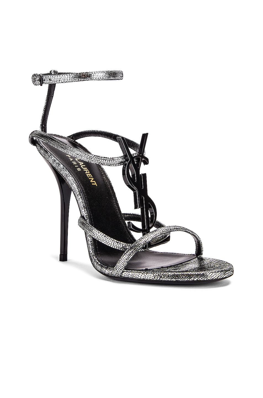 Image 3 of Saint Laurent Cassandra Heels in Silver