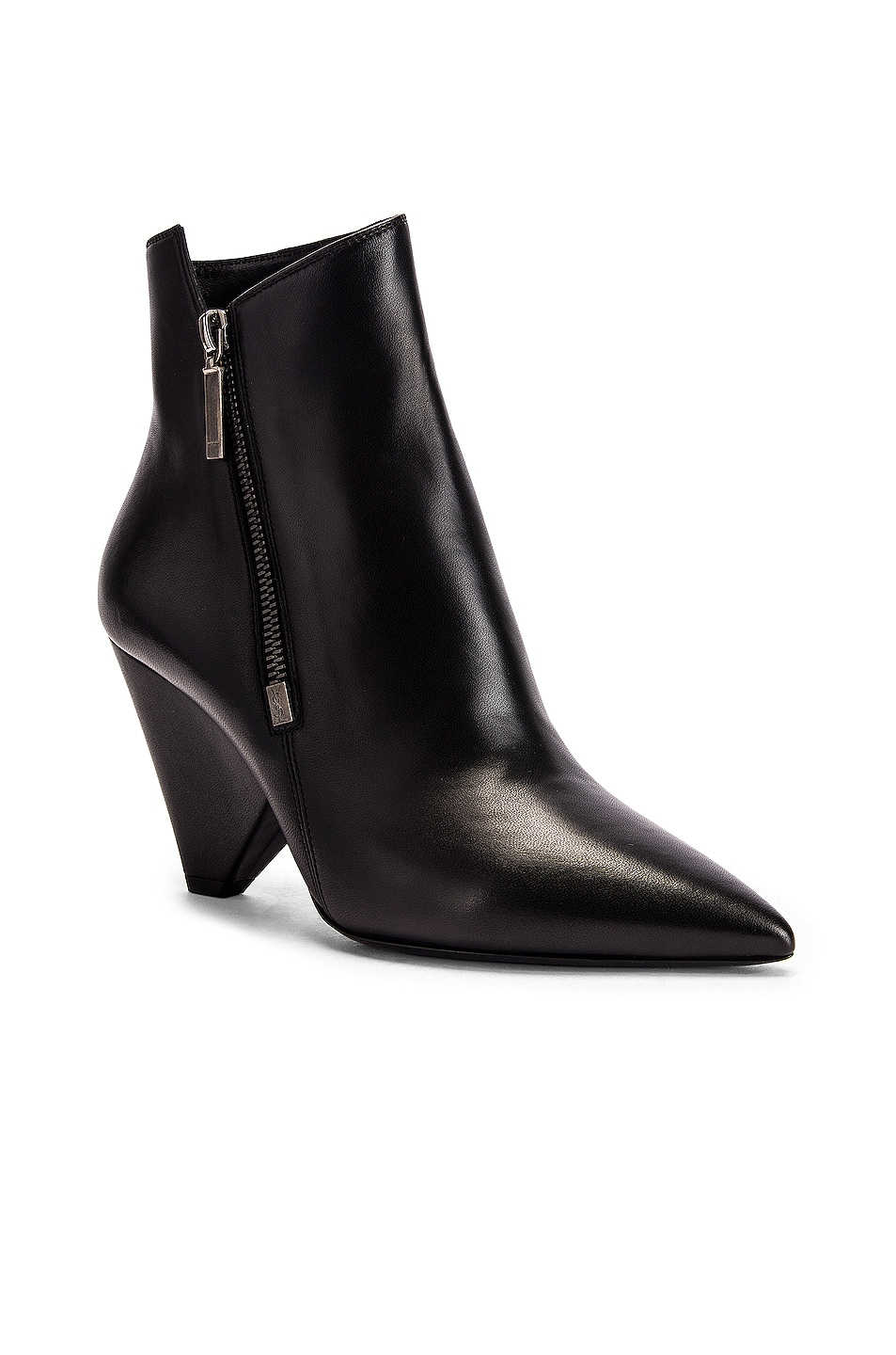 Image 2 of Saint Laurent Niki Zip Booties in Black