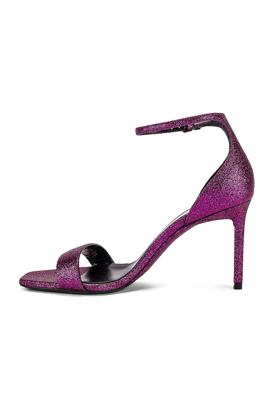 Image 5 of Saint Laurent Amber Ankle Strap Sandals in Fuchsia