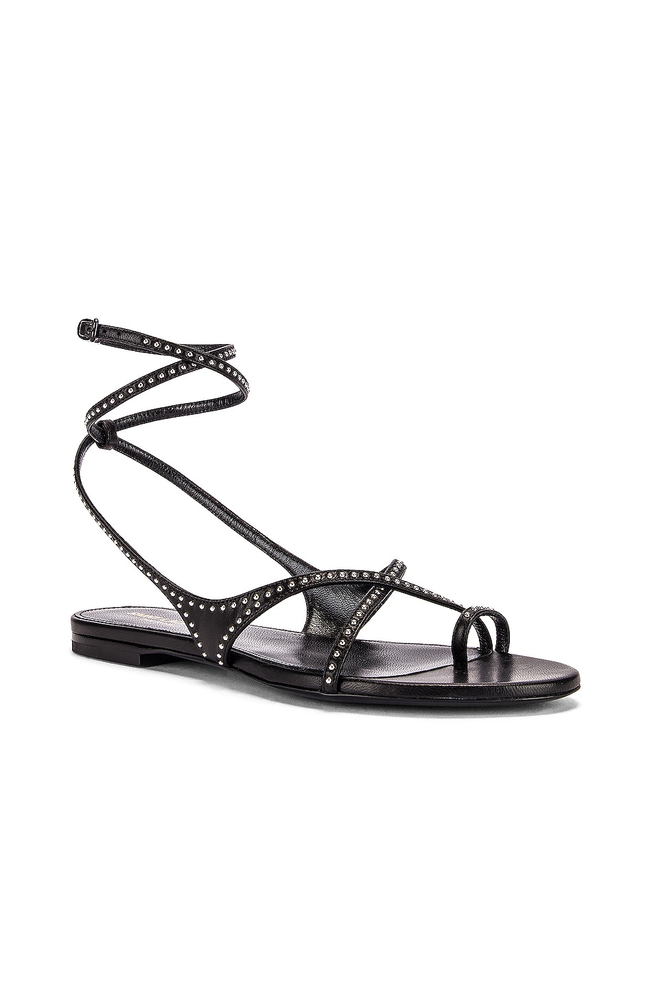 Image 2 of Saint Laurent Gia Ankle Sandals in Black