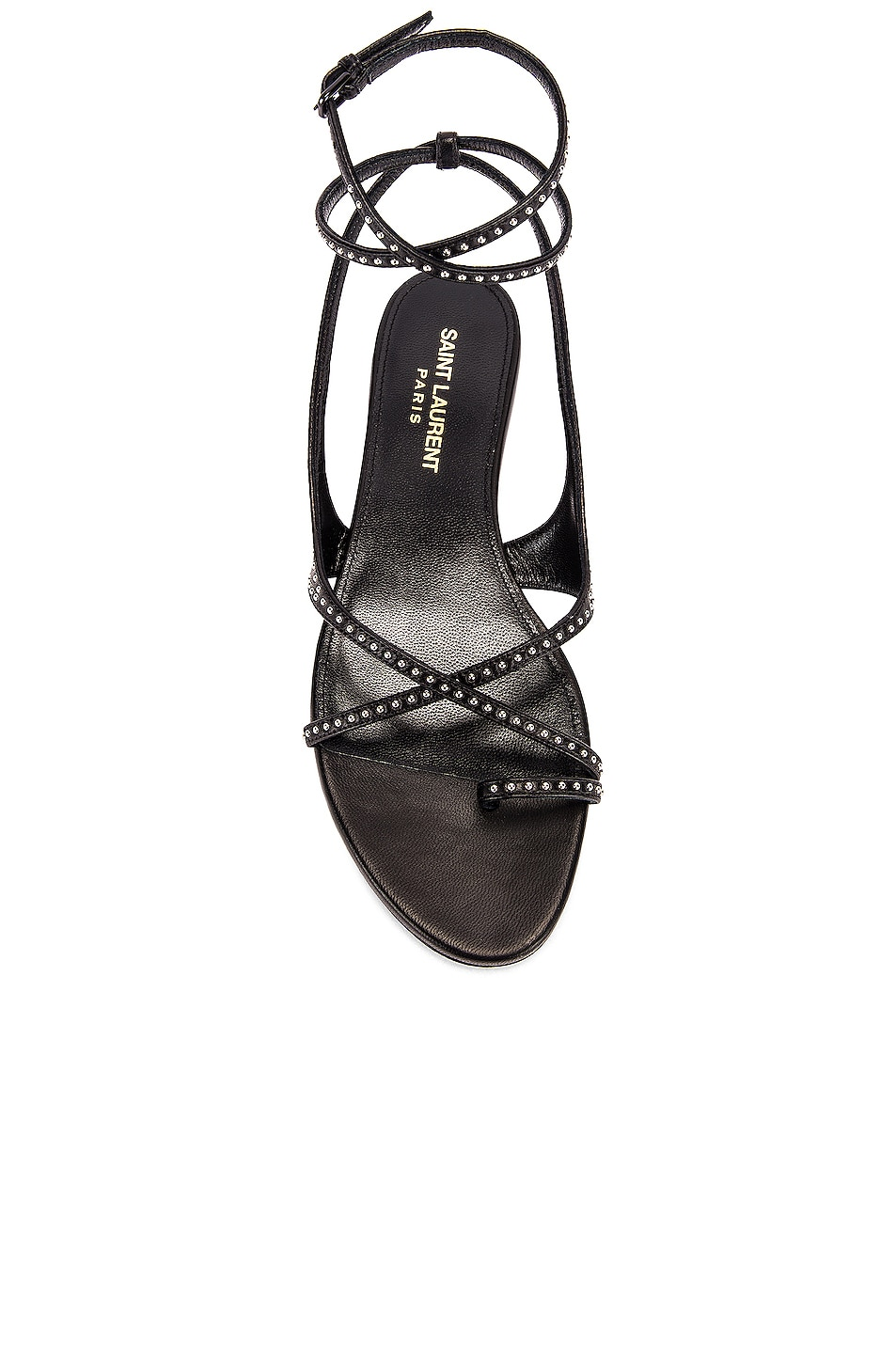 Image 4 of Saint Laurent Gia Ankle Sandals in Black