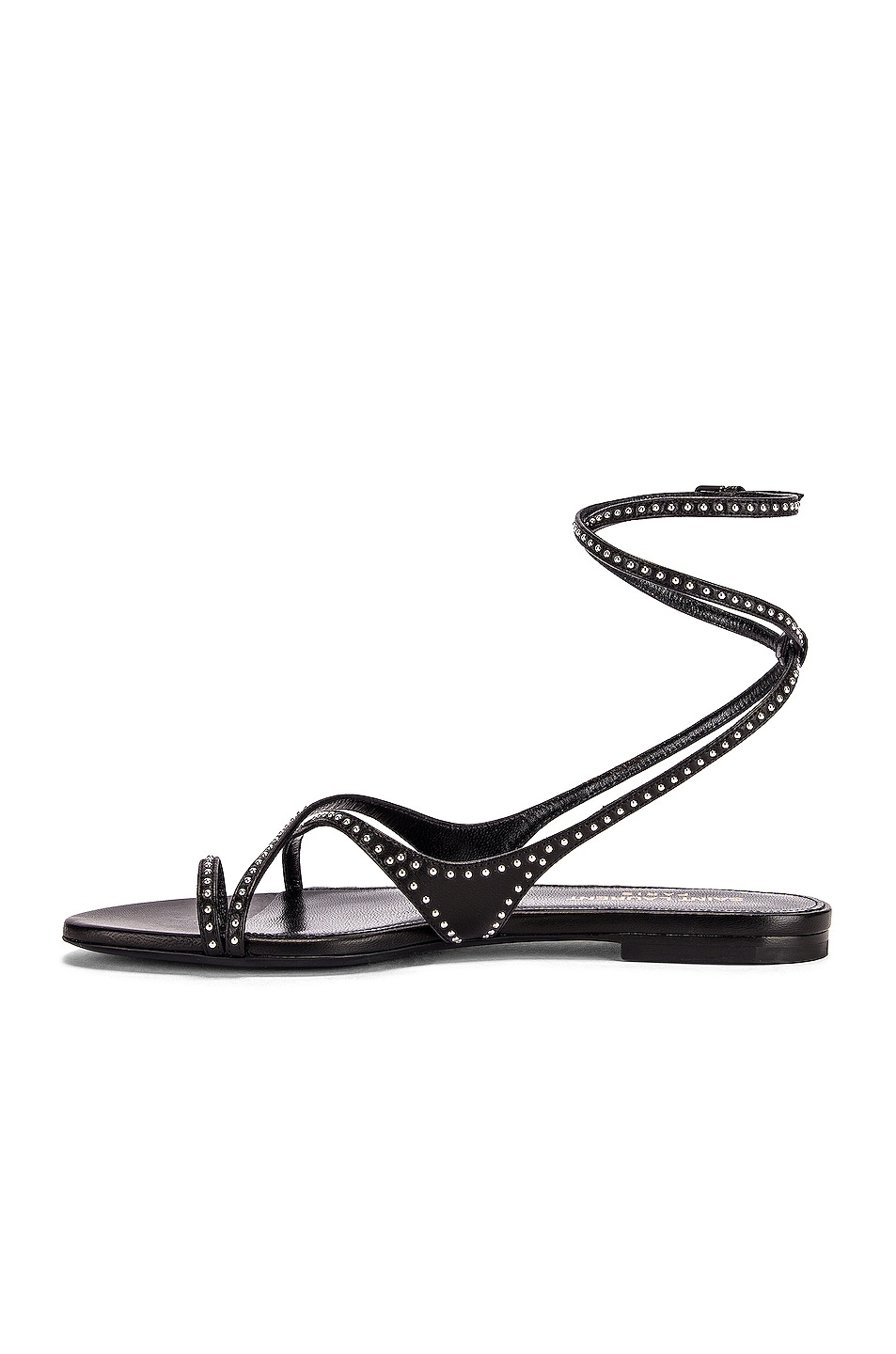 Image 5 of Saint Laurent Gia Ankle Sandals in Black