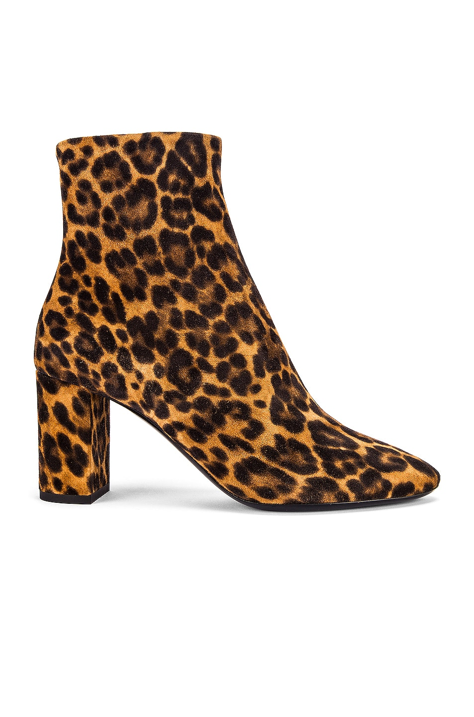 Image 1 of Saint Laurent Lou Leopard Booties in Natural