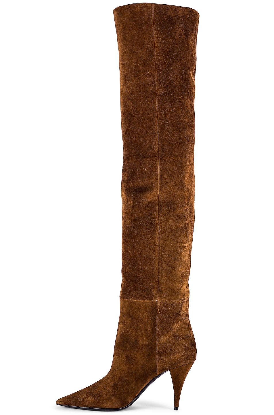 Image 5 of Saint Laurent Kiki Suede Over the Knee Boots in Land
