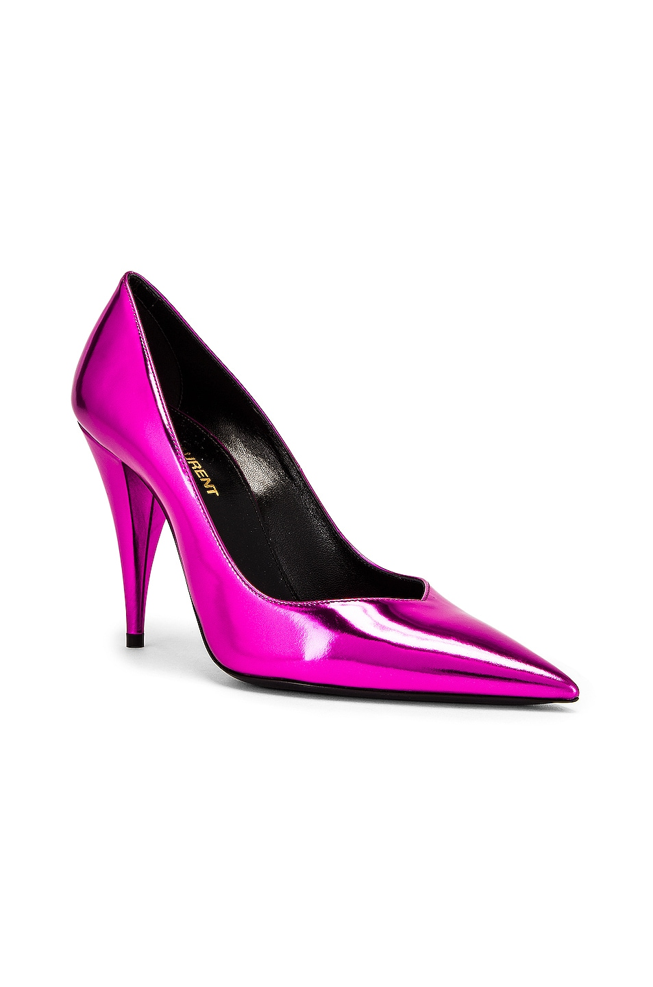 Image 2 of Saint Laurent Kiki Pumps in Metal Fuchsia