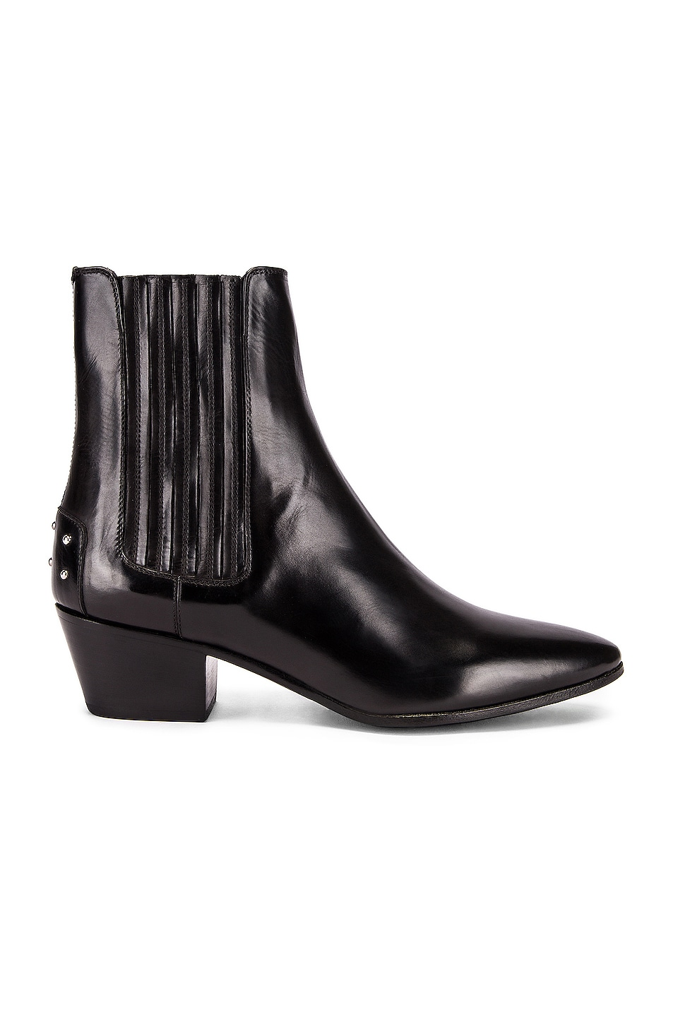 Image 1 of Saint Laurent West Leather Chelsea Boots in Black