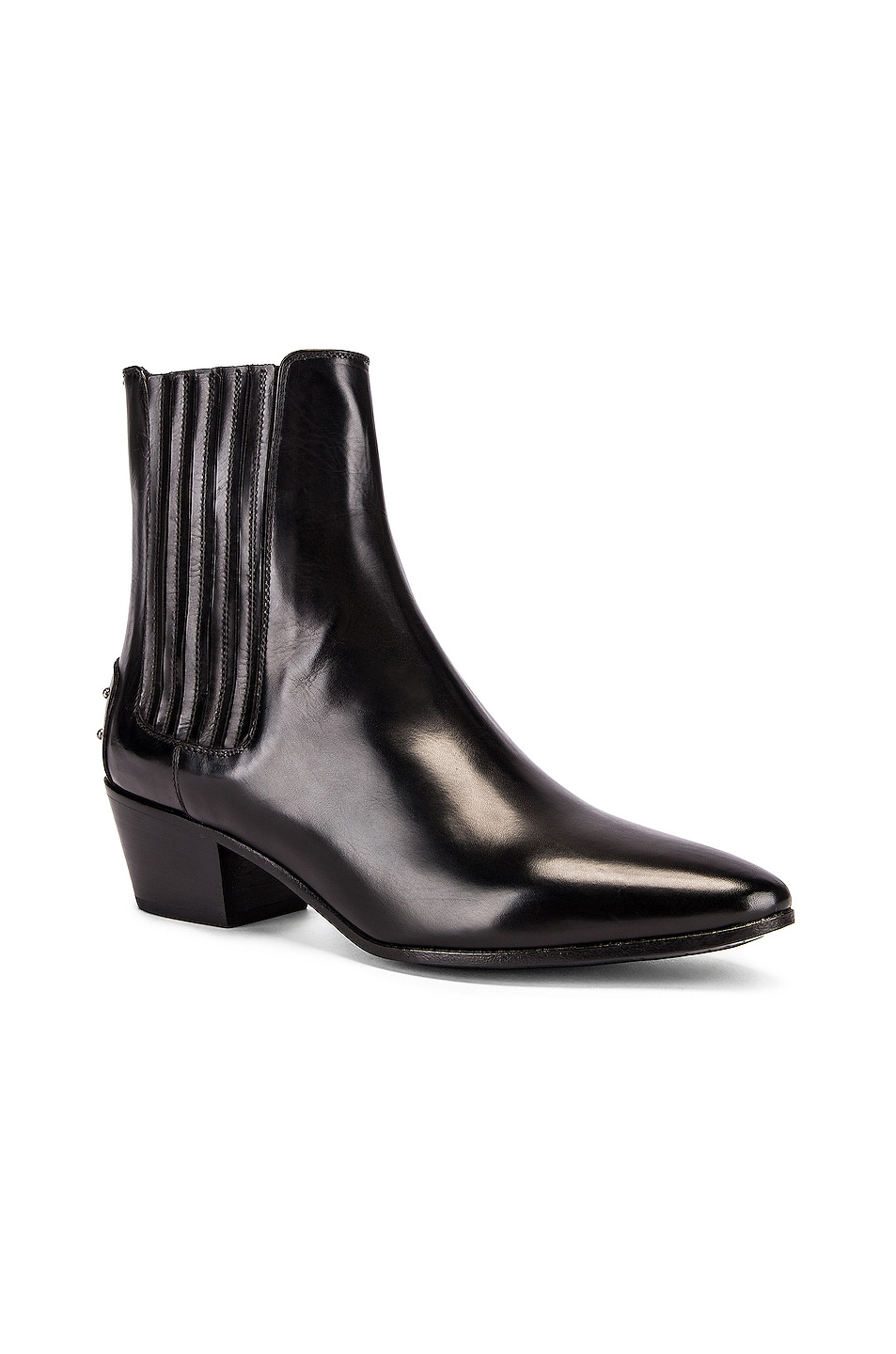 Image 2 of Saint Laurent West Leather Chelsea Boots in Black