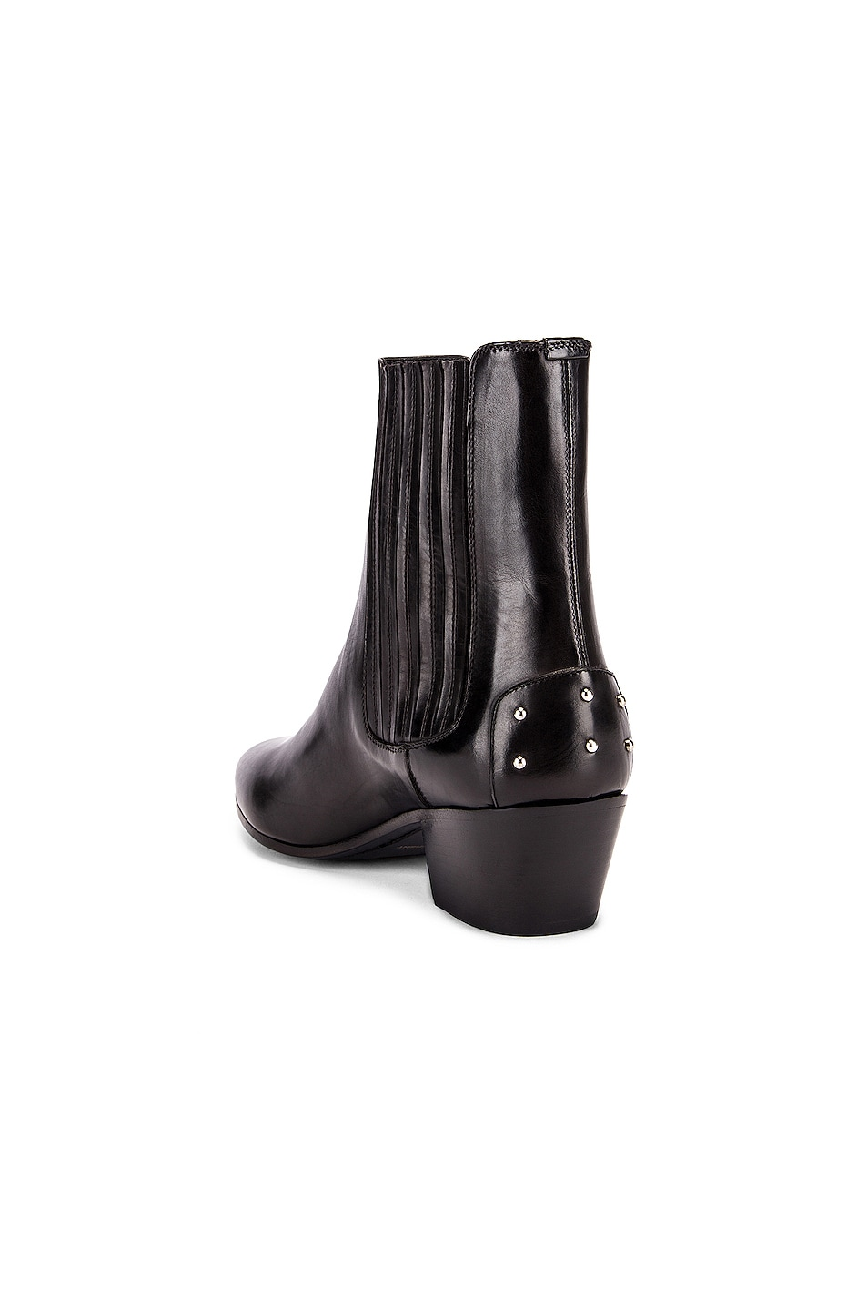 Image 3 of Saint Laurent West Leather Chelsea Boots in Black